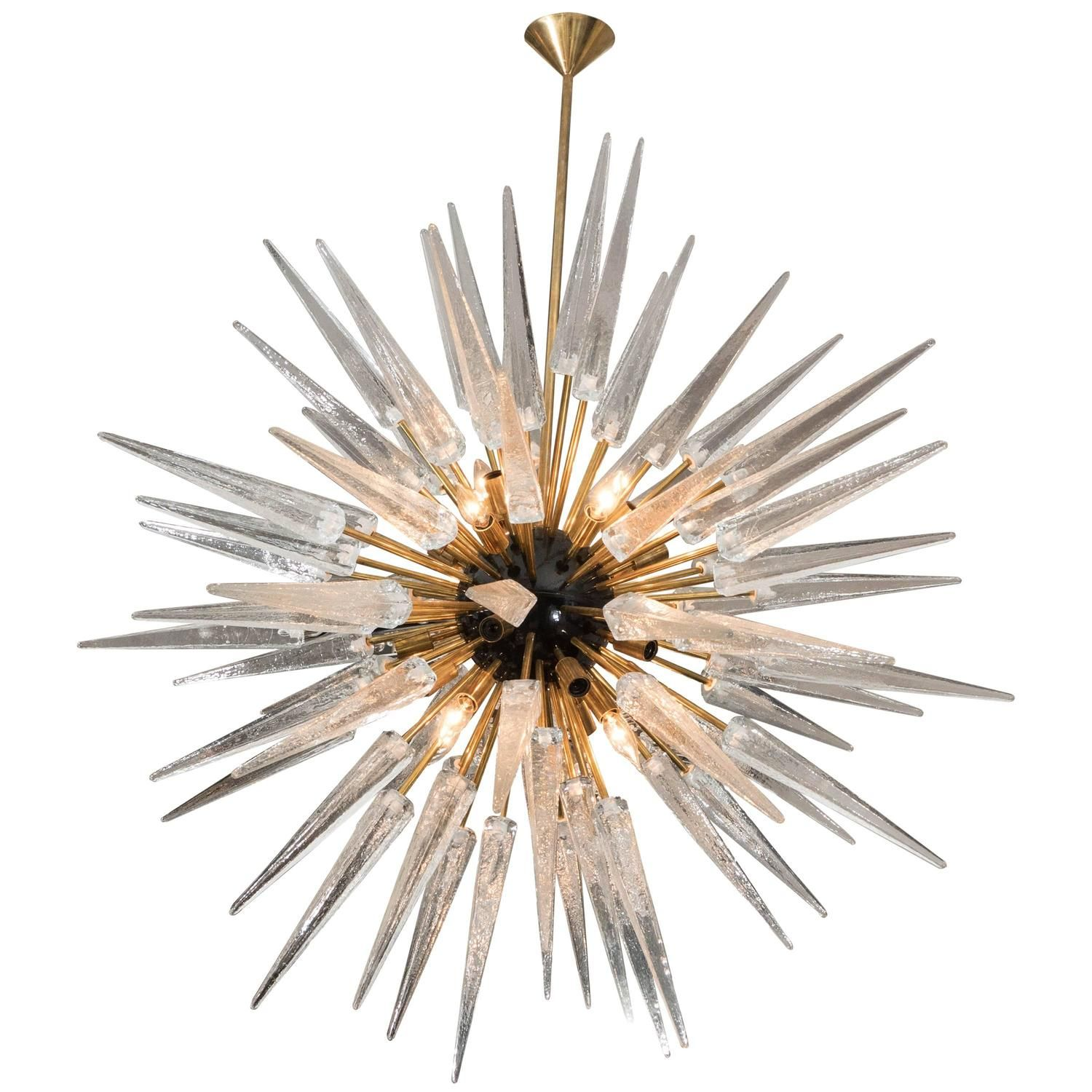 Stunning murano glass spike sputnik chandelier murano glass stunning murano glass spike sputnik chandelier arubaitofo Images