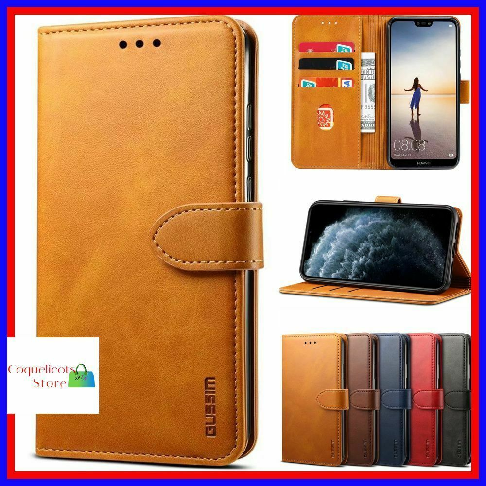 Etui Housse Coque Samsung Galaxy S8 S9 S10e Plus S7 Note 8/9 A30 ...