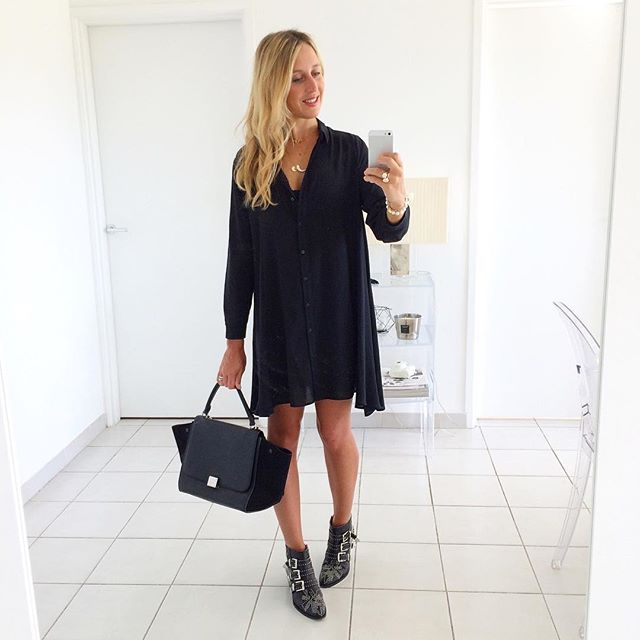 Black dress zara instagram