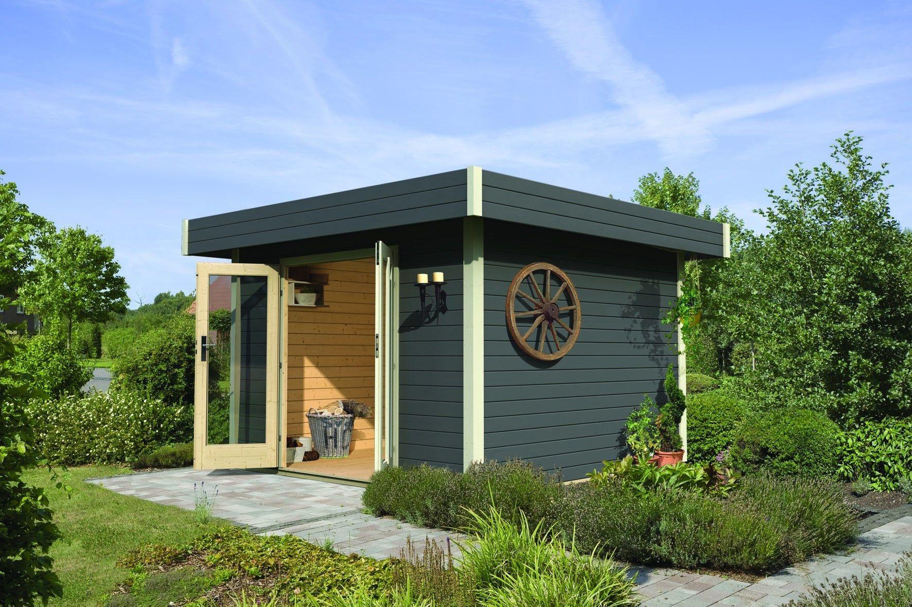 Luxus 41 Zum Gartenhaus Modern Flachdach Outdoor