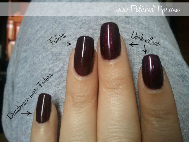 Cnd Layering Shellac Pinky Finger 2 Coats Of Fedora