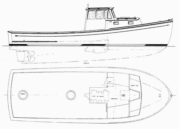 32lewiscarrolldesign Jpg 600 433 Lobster Boat Boat Design Boat Plans