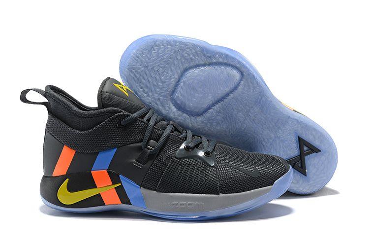 b551afa465c Nike PG 2 PE Black Metallic Gold Grey Orange Blue basketball shoes