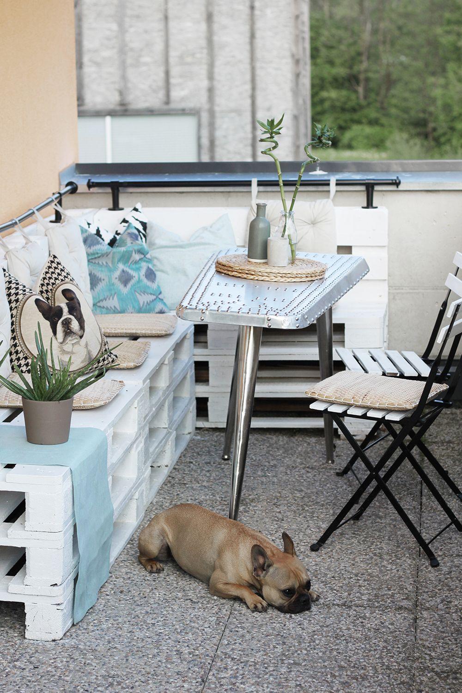 homestory: terrasse mit diy-europaletten-möbel | balconies and