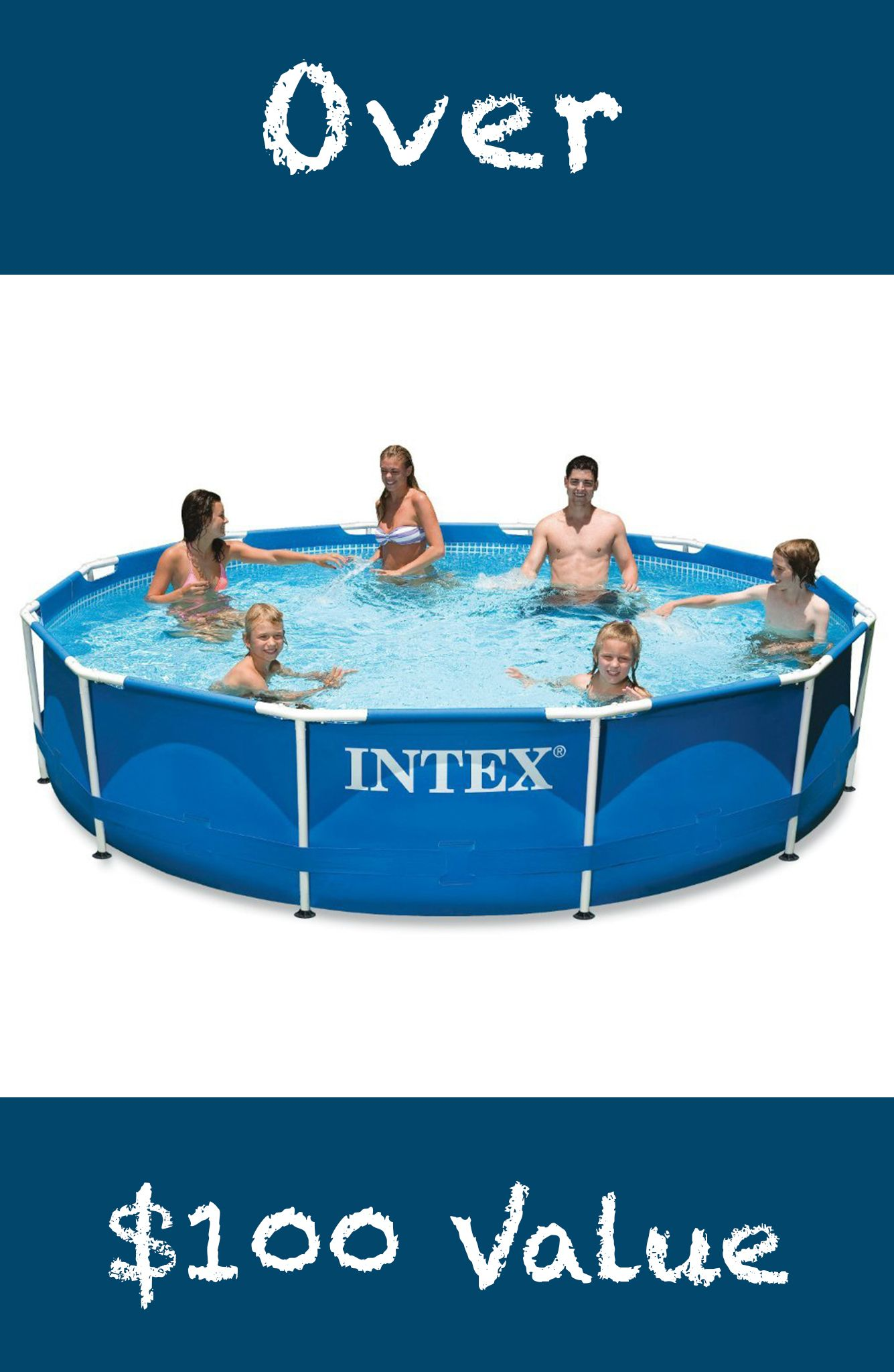 Intex 12′ x 30″ Above Ground Pool + Filter Pump + Football