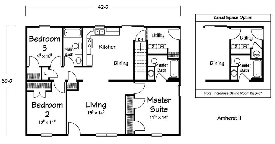 Floor Plans :: Designer Homes - a division of Ritz-Craft Corp ...