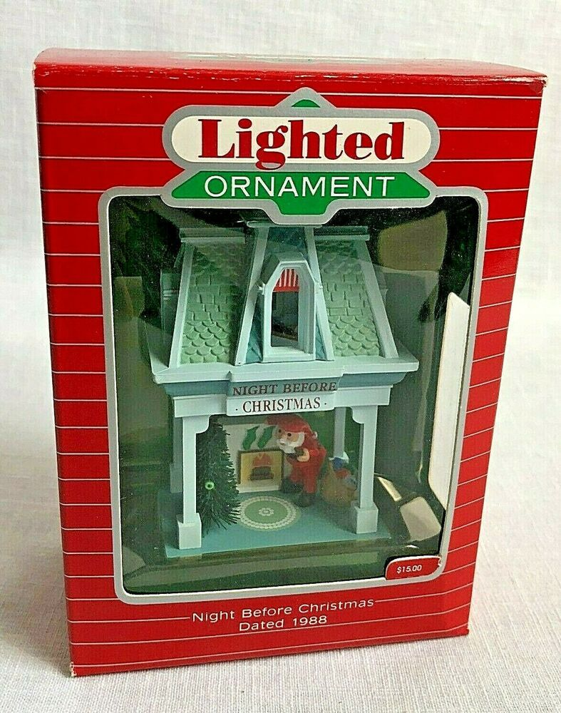 Details about 1988 Hallmark Lighted Ornament Night Before