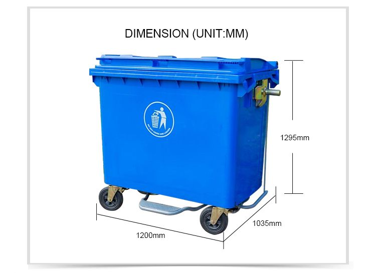 1100l Plastic Mobile Garbage Bin Waste Container Trash Container Garbage Containers Trash Containers Garbage Bin
