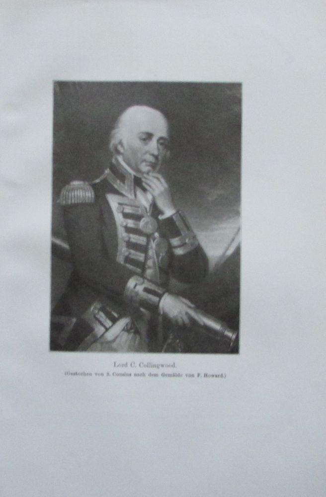 LORD COLLINGWOOD 1914 Porträt Howard alter Druck antique Print Lithographie