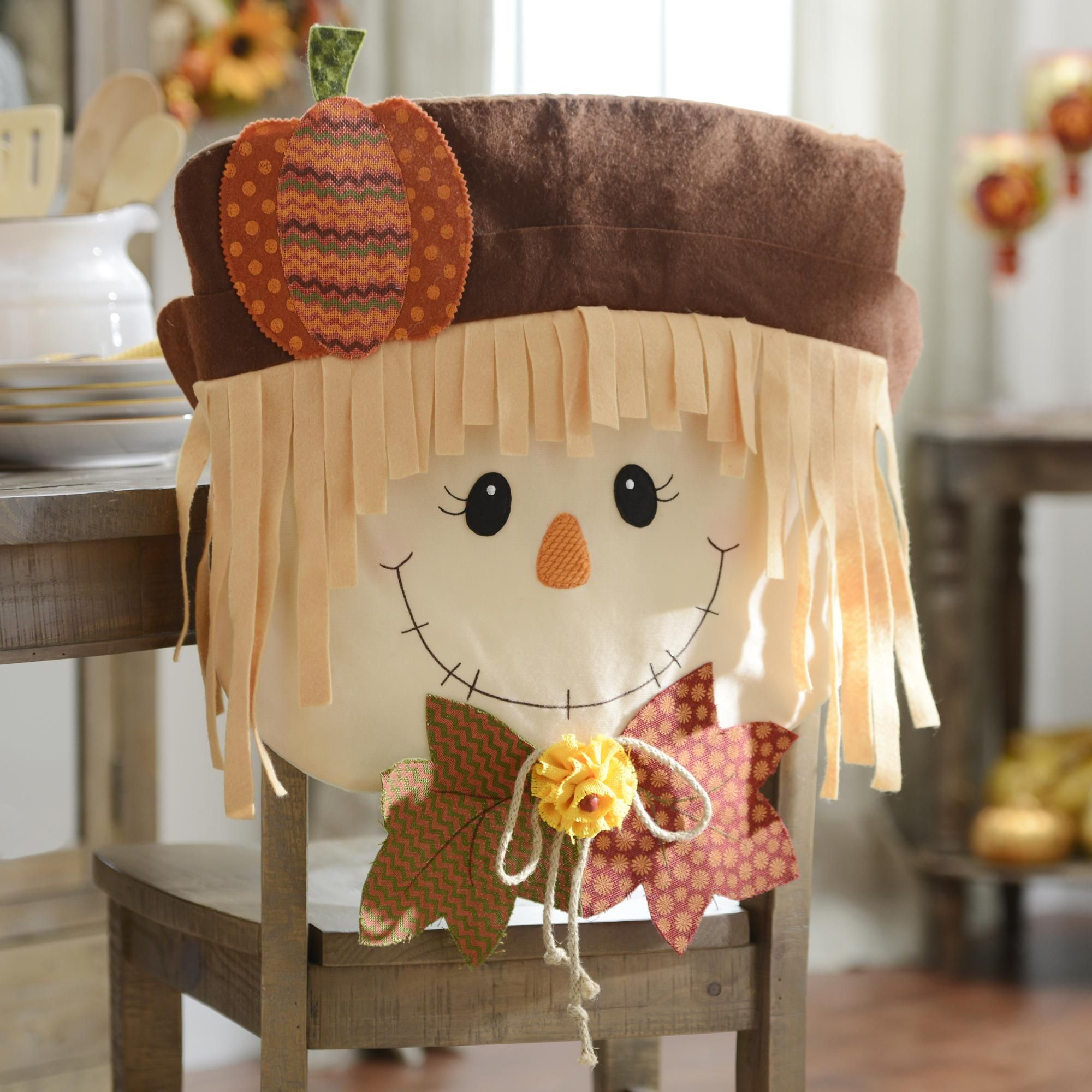 Fall Chair Covers Hammock Stand Amazon Scarecrow Boy Set Of 2
