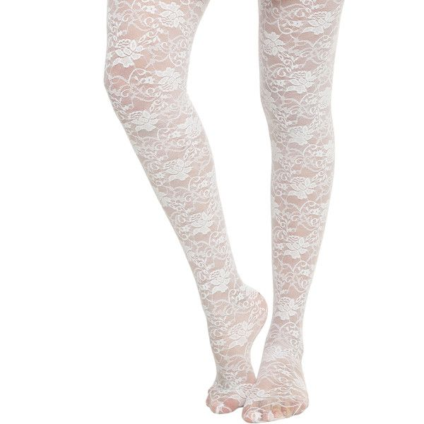 LOVEsick White Rose Tights | Hot Topic (£8.16) ❤ liked on Polyvore featuring intimates, hosiery, tights, socks and tights, rose tights, white pantyhose, sheer hosiery, white tights and sheer stockings