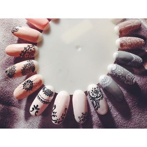 grafika hybrid, nails, and semilac