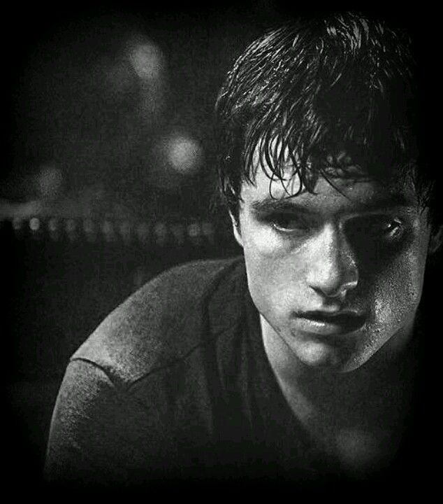 Josh Hutcherson in black and white. (: