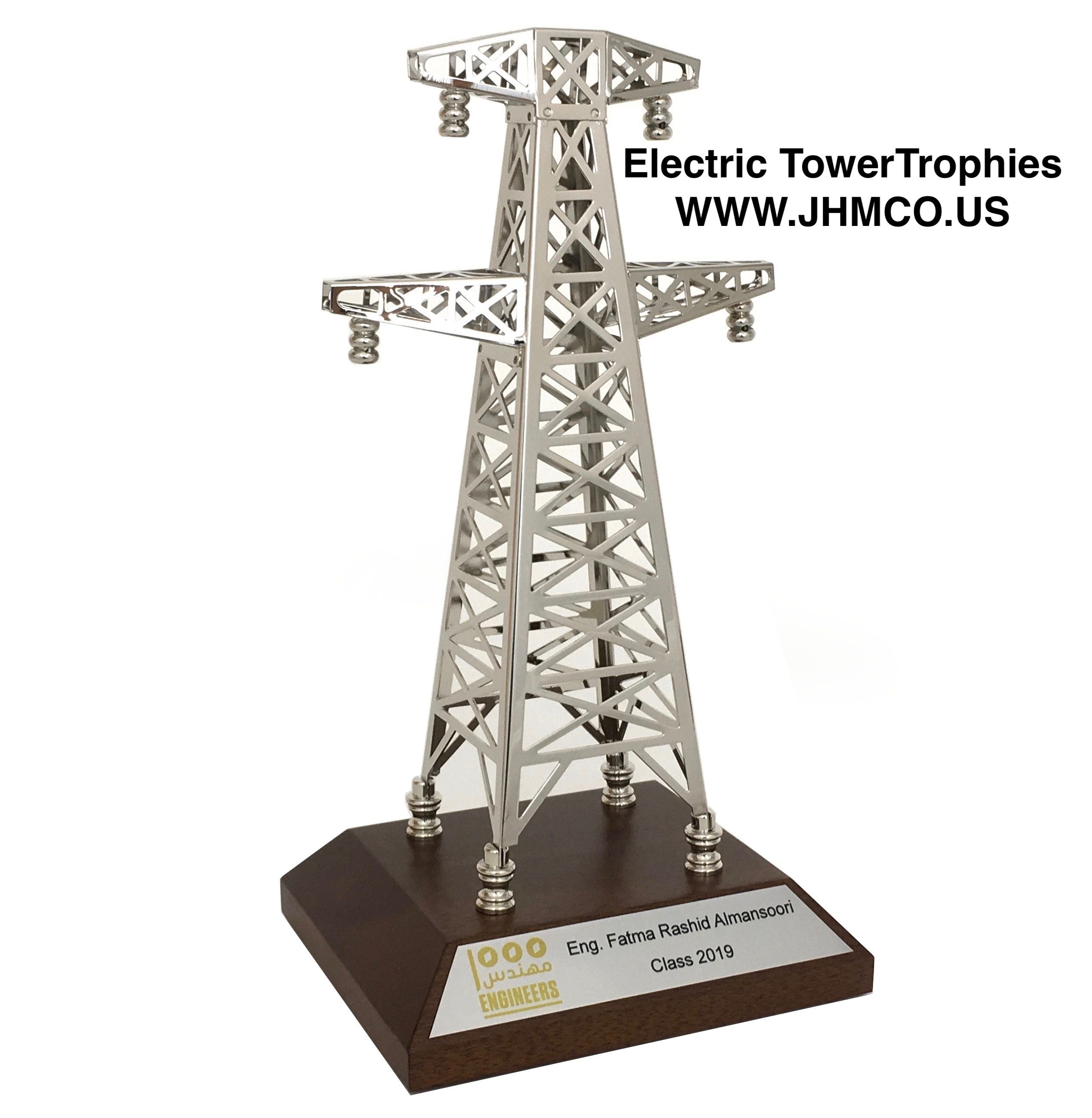 Electric Tower Trophy Awards For Duke Energy Pacific Gas Electric Southern California Edison Transmission Tower Electricity Gas And Electric