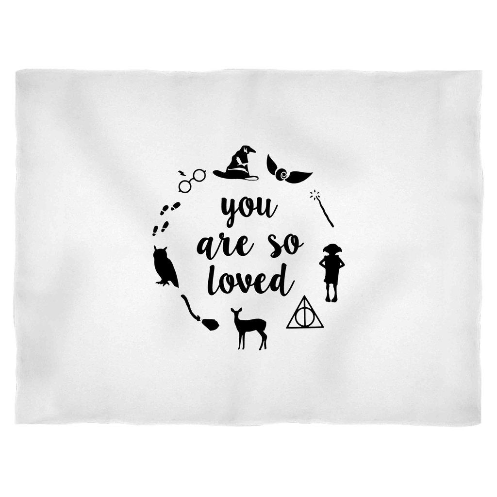 Download You Are So Loved Harry Potter Symbol Collage Blanket ...