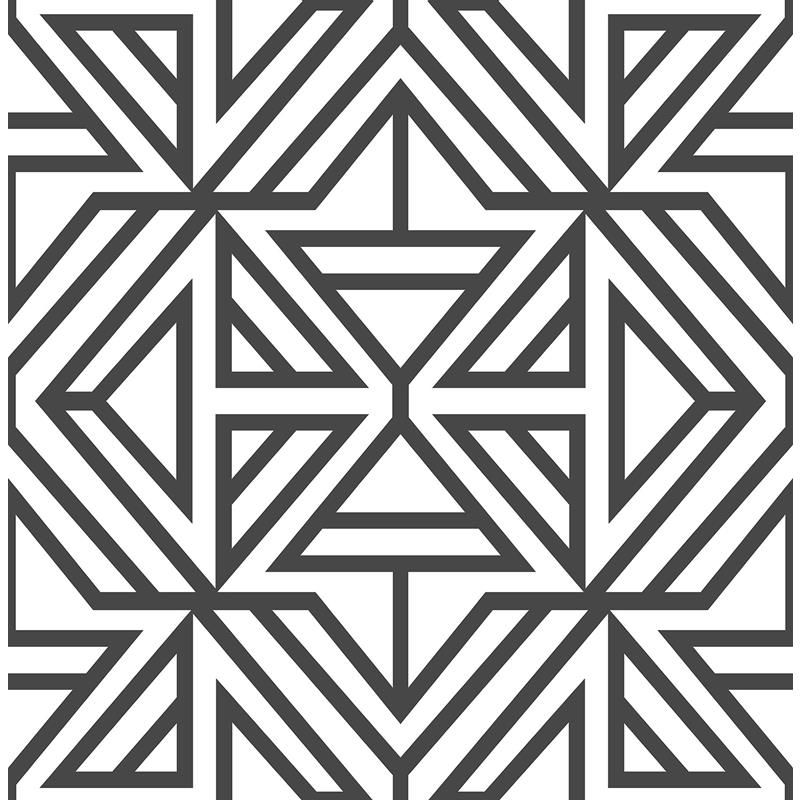 Nus3499 Black Linear Graphics Peel And Stick Wallpaper Geometric Wallpaper Brewster Wallpaper Peel And Stick Wallpaper