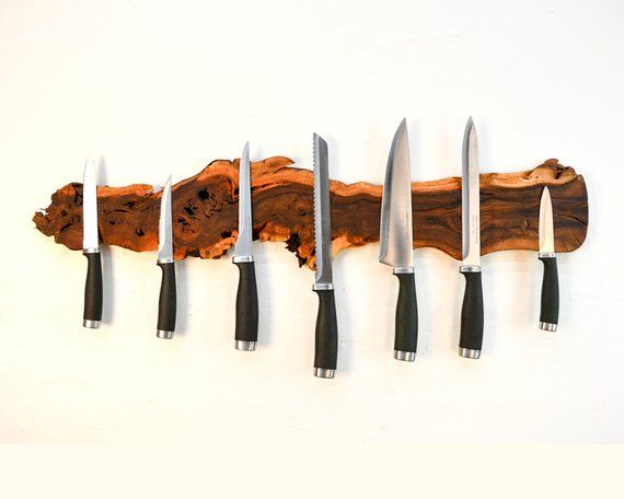 Photo of Grapevine Magnetic Knife Rack – Medietas – Made from retired California grapevines – 100% Recycled and Free Shipping (US Only)!