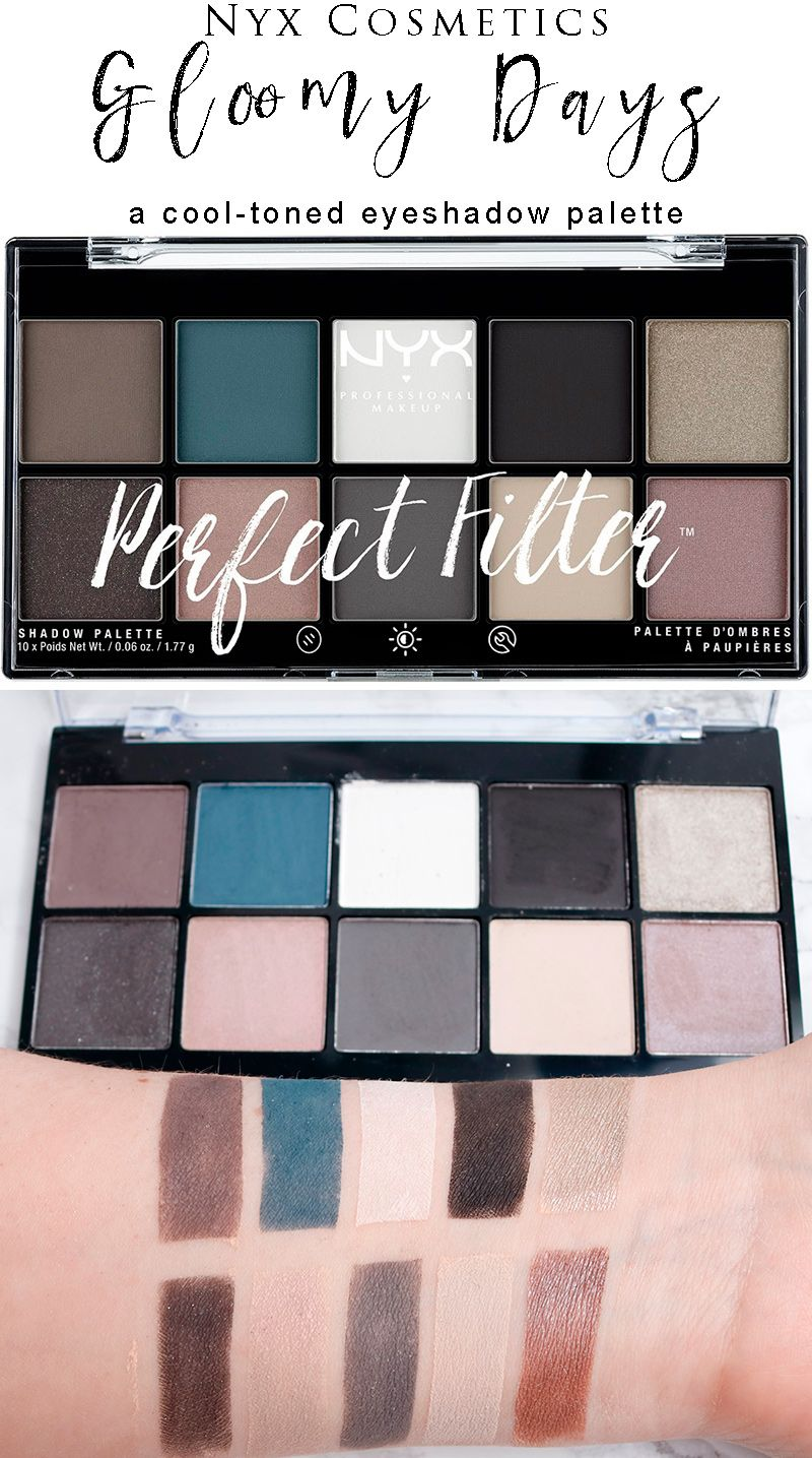 Nyx Gloomy Days Perfect Filter Shadow Palette Cool toned