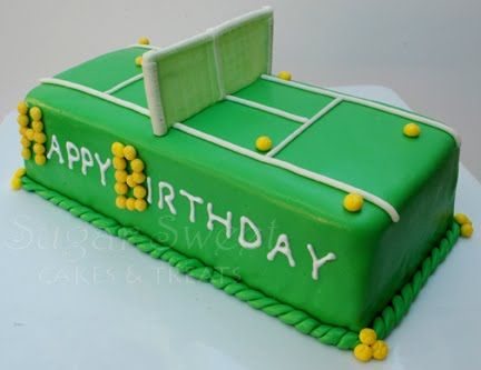 Tennis court Birthday cake