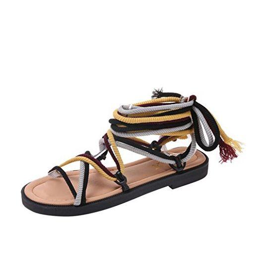 Ouneed® Damen Sandalen ,Damen Cross Bindung Bandage Boho