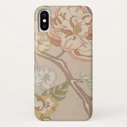Decrative Organza Chintz Floral Design iPhone X Case - patterns pattern special unique design gift idea diy