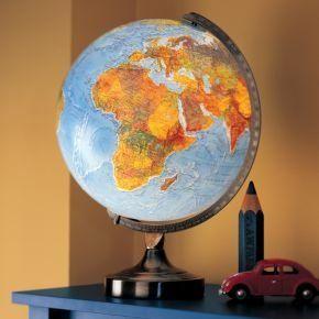 Lovely Kidsu0027 Lighting: Kids Illuminated World Globe Lamp In Desk Lamps