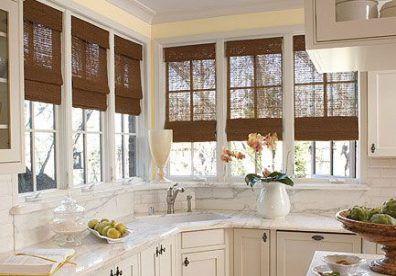 Kitchen Window Treatments Over Sink Corner 42 Ideas For