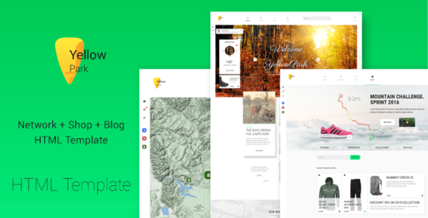 Yellowpark Social Network Shop And Blog Html5 Template