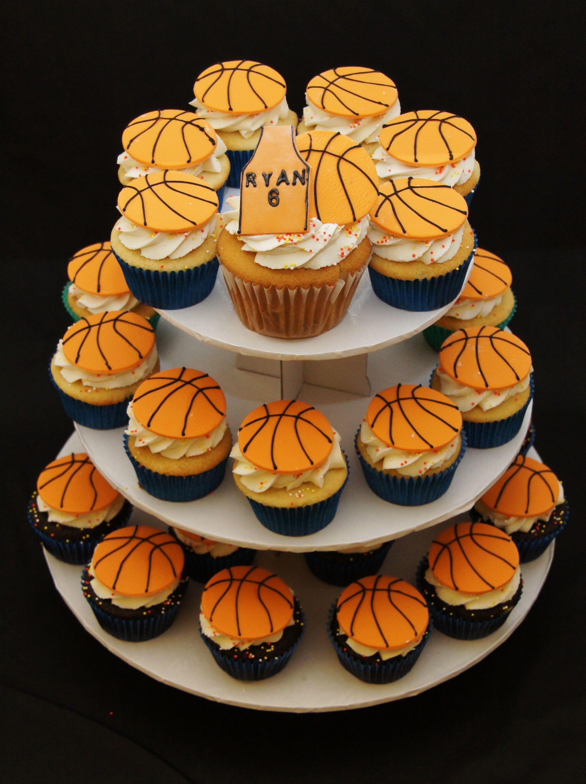 Basketball Cupcakes Birthday Girl Would Like Bball