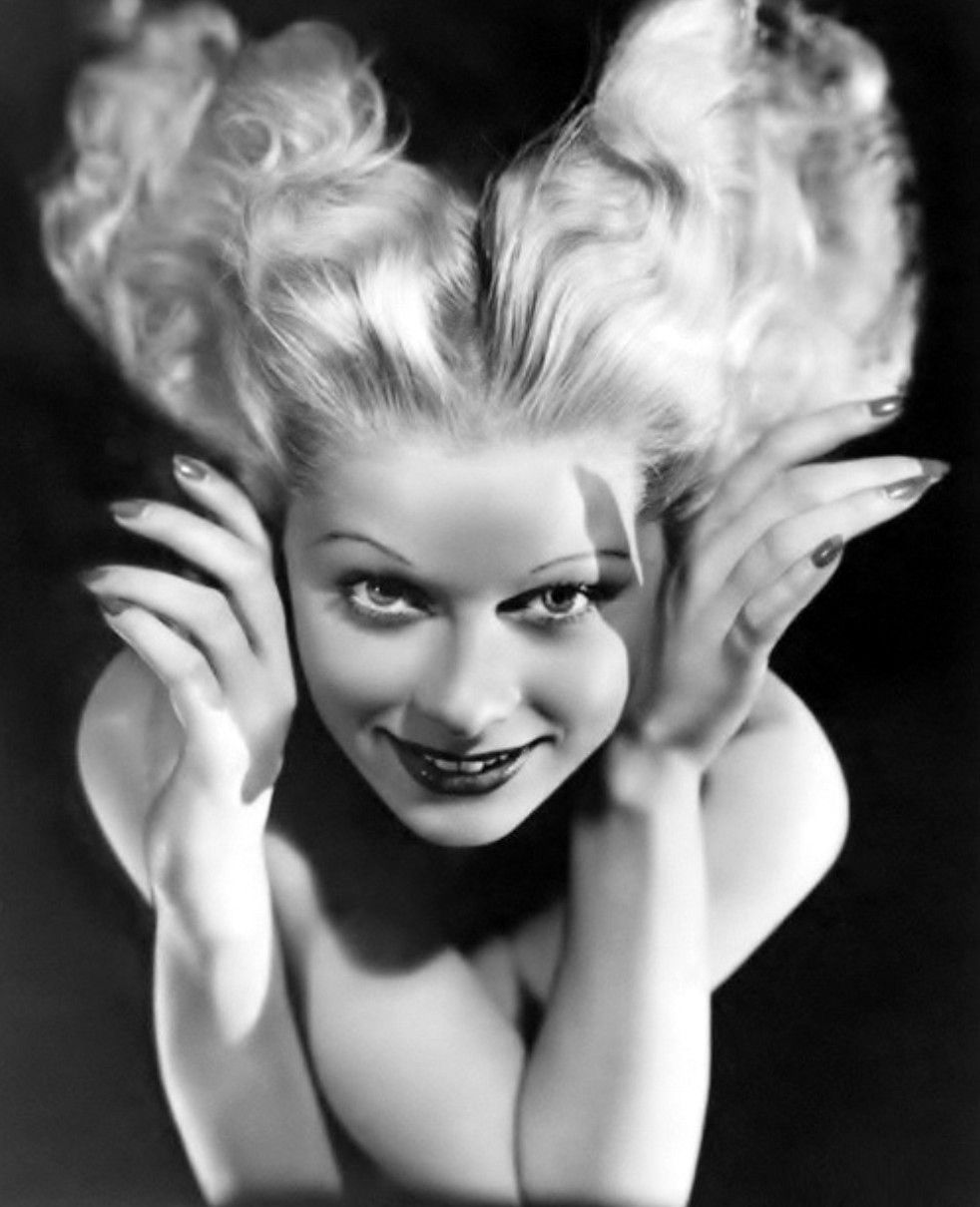 Lucille Ball During Her U201cGoldwyn Girlu201d Days, 1933. Iu0027m Personally Happy She  Settled On Red Hair U003c3 This Never Suited Her.