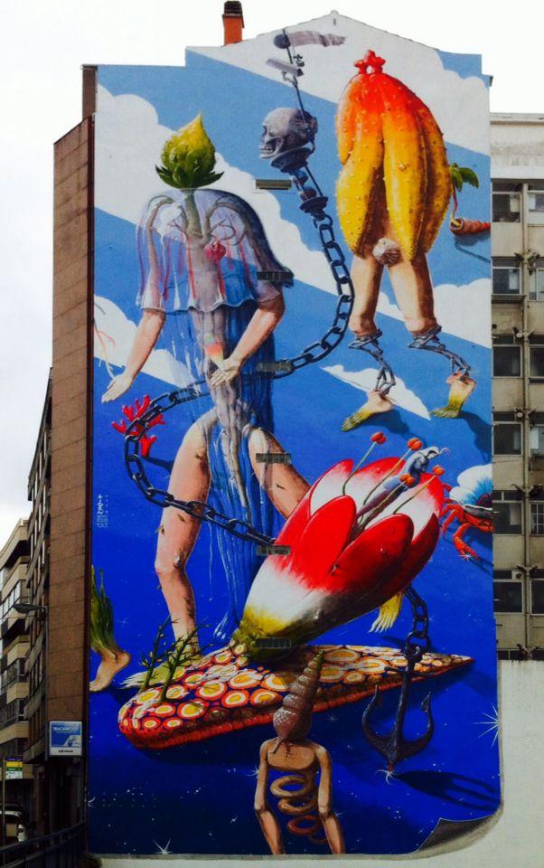 Street art, Vigo, Spain