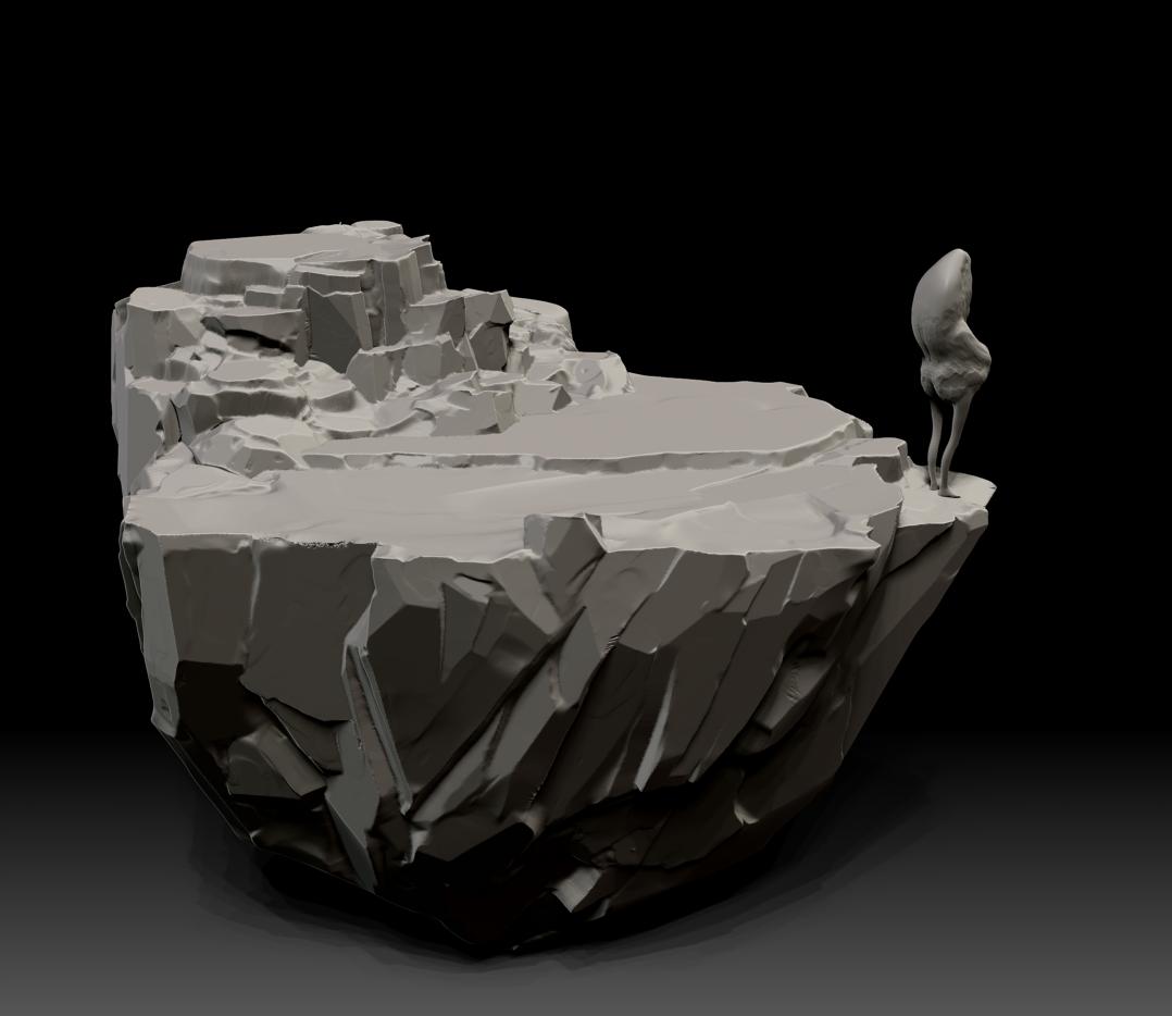 Cliffwithgubbeg Zbrush Rocks Reference