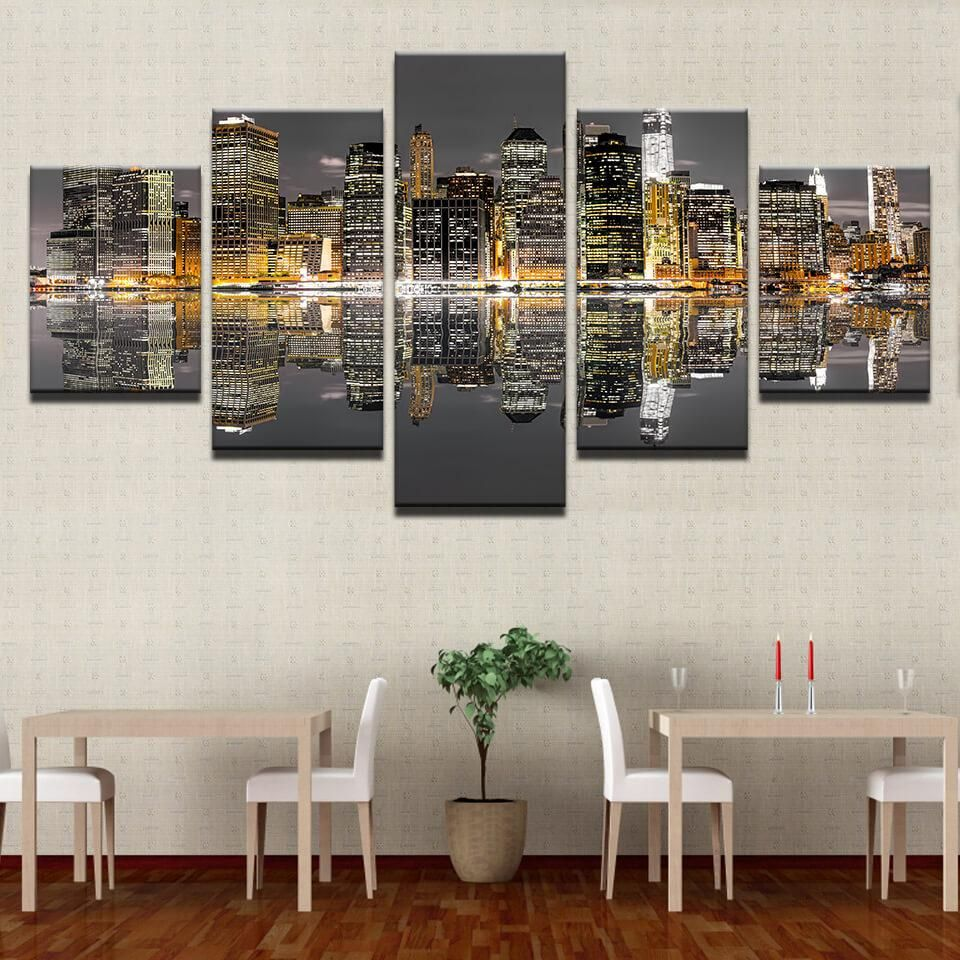 EIFFEL LAS VEGAS NIGHT CANVAS PRINT WALL DESIGN READY TO HANG