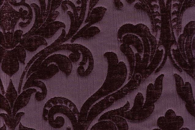 Violet Jacquard Chenille Faux Velvet Damask Fabric Min Order Is