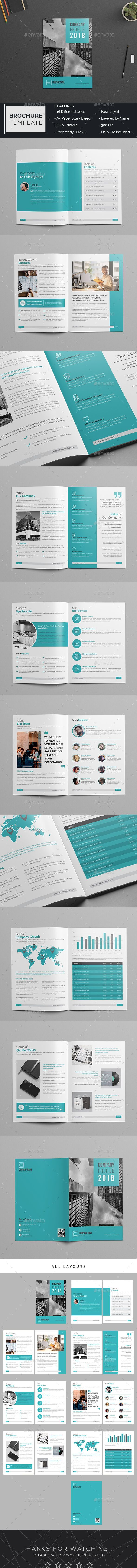 Company Profile Brochure Template Indesign Indd 16 Pages Company