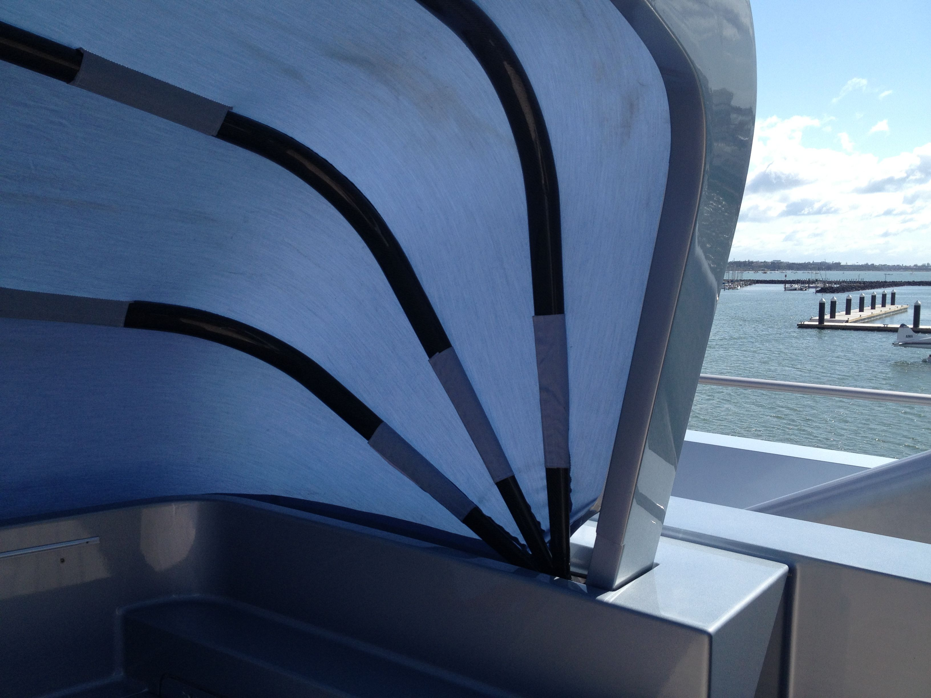 My Pacific Awning By The Boat Cover Company Ltd Auckland New Zealand Www Thecoverco Co Nz Boat Covers Tent Auckland