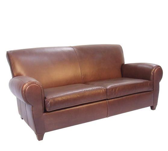 Charmant Manhattan Leather Sofa | Pottery Barn