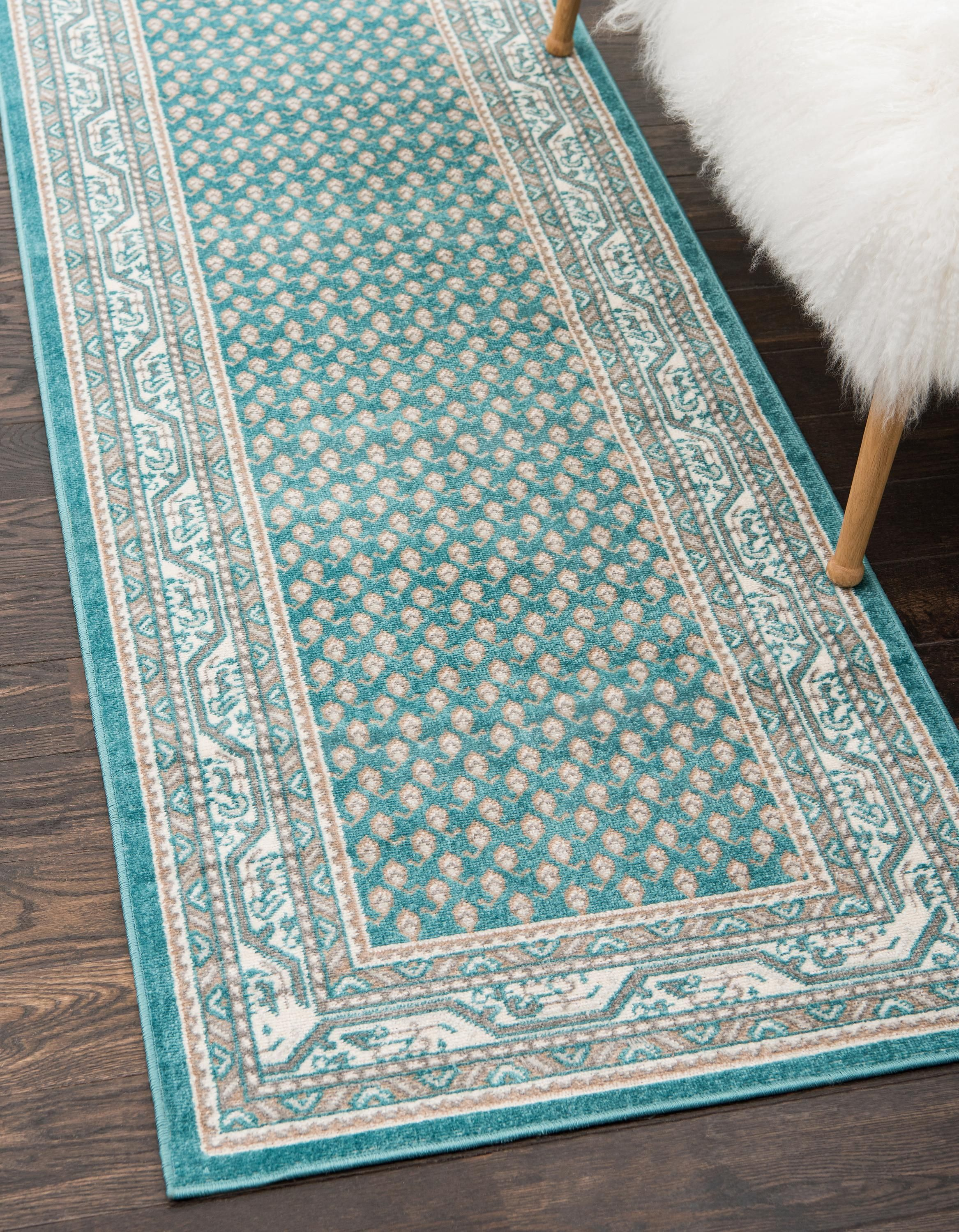 Teal 2 9 X 9 10 Tribeca Runner Rug Area Rugs Esalerugs Rugs Rug Runner Beautiful Rug
