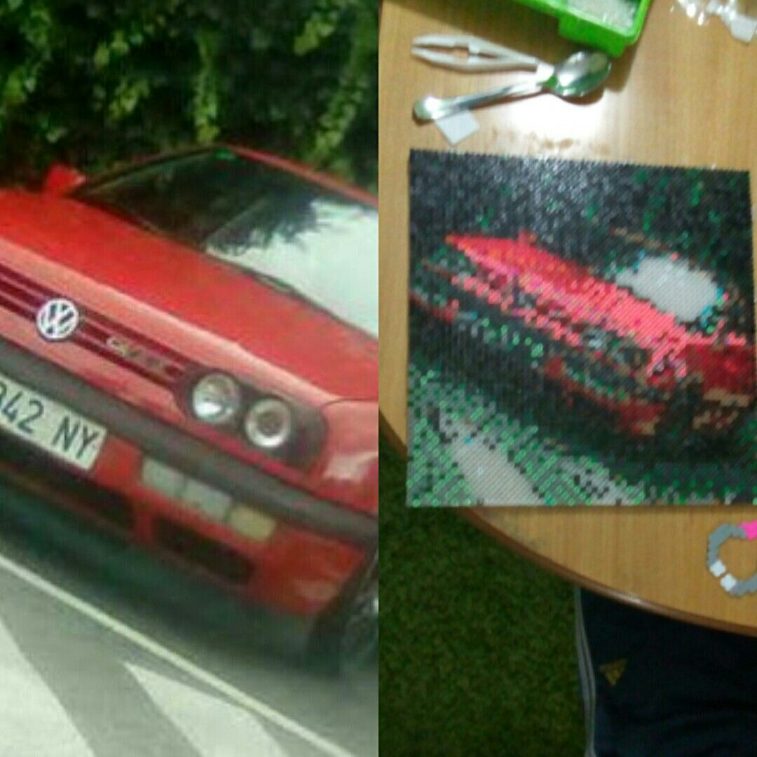 #car #coche #photo #picture #perler