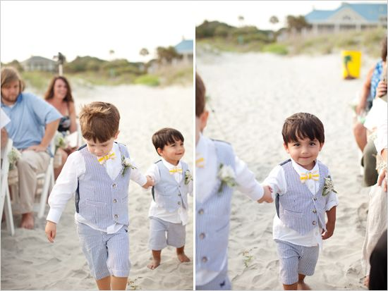 a680e6b15ce seersucker little vest suits for beach wedding!! LOVE IT!!!
