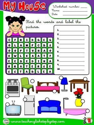My House Worksheet 5 English Lessons For Kids English Teaching Resources English Lessons Worksheet english grade 5