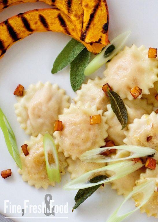 Kürbis-Ravioli mit Salbei-Butter