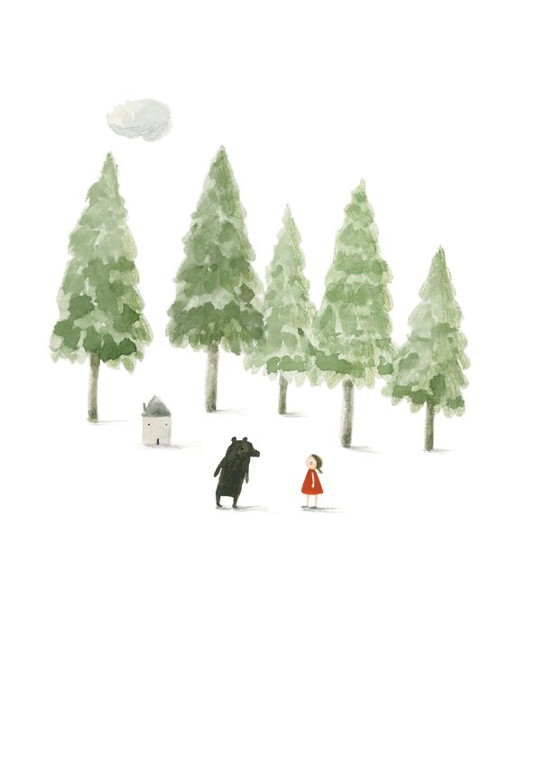 Image of Girl and Bear