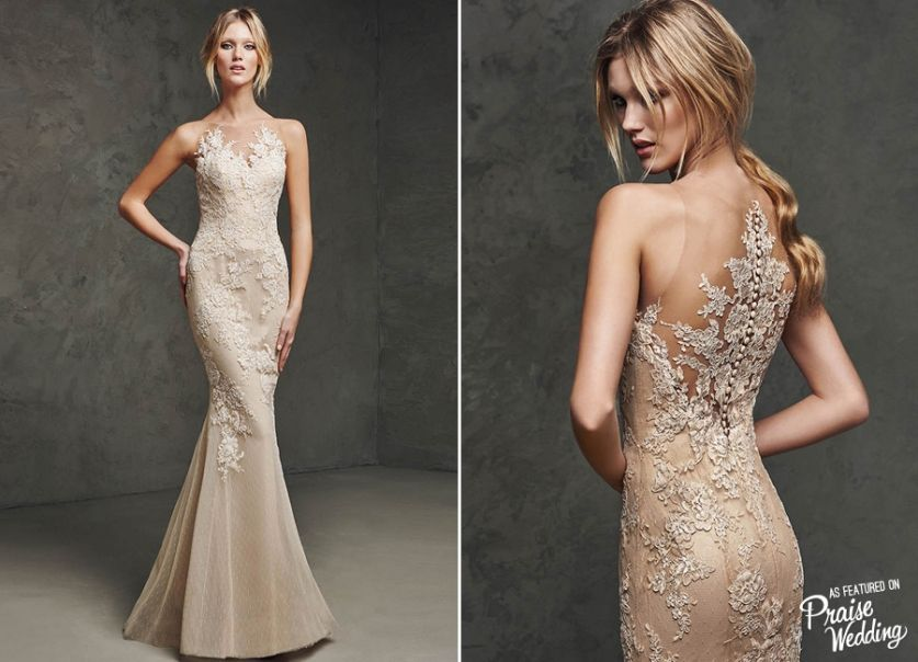 Who Wants To Wear This Beautiful Pronovias Reception Gown