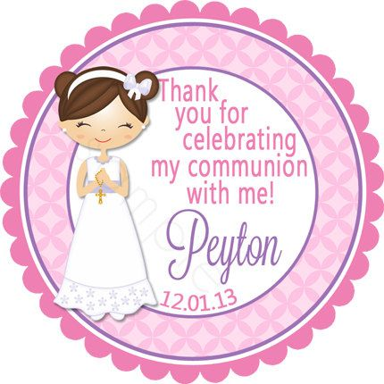 First communion personalized stickers party favor labels christening holy communion baptism