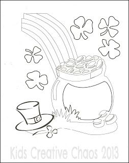 leprechaun coloring sheets for saint patricks day free printables - Free Printable Pot Of Gold Coloring Pages