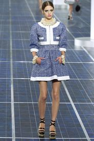 Chanel Spring/Summer 2013|39!!! Bebe'!!! Pretty Blue and White Chanel!!!