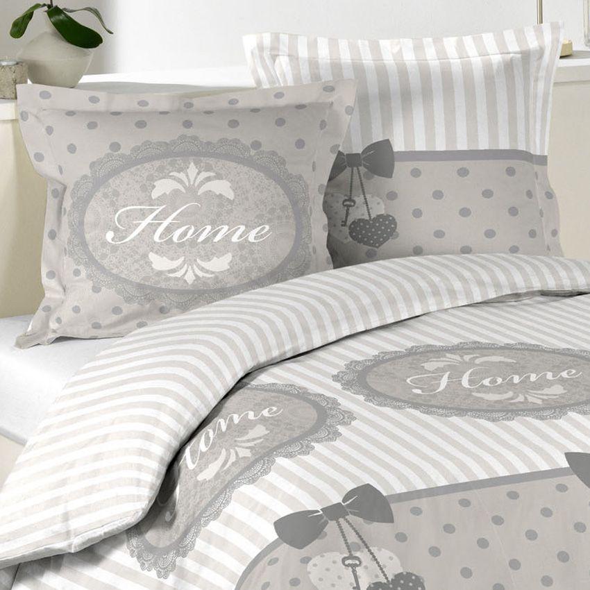 Housse De Couette Et Deux Taies 240 Cm Romantic Home Ecru Avec Images Housse De Couette Housse De Couette Romantique