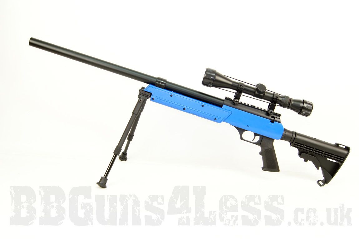 bbgunsuk co uk well mb06 bb gun airsoft sniper rifle in blue