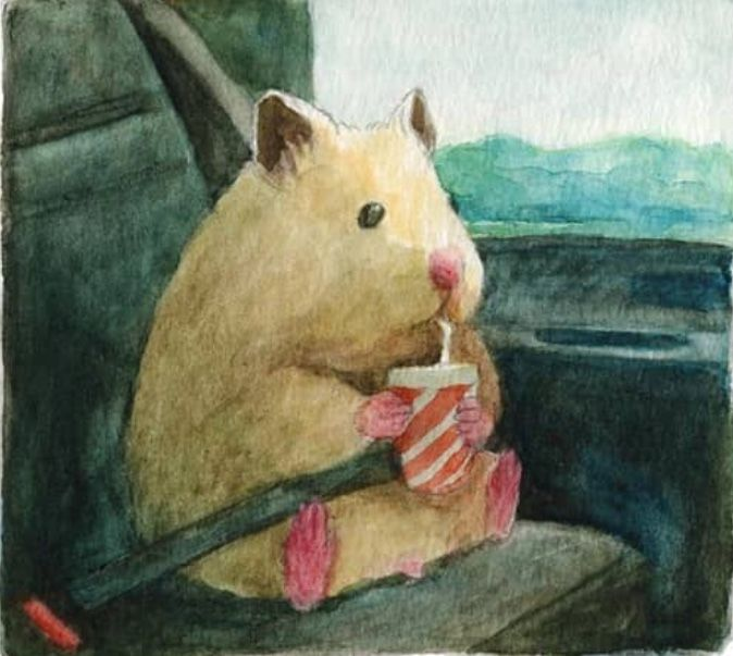 Pin by Kevin Marin on Art | Cute hamsters, Funny paintings, Cute ...